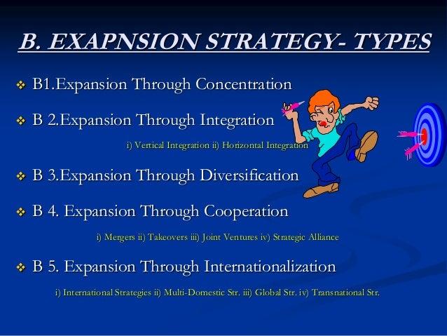B1. Expansion Through Concentration Concentration Strategies Market Penetration Market Development Product Development