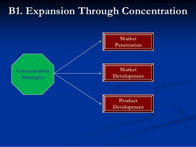 B1. Expansion Through Concentration  Ansoff' Product-Market Matrix  Ansoff' Product-Market Matrix first presented by Igo...