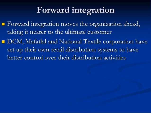 Horizontal Integration  The acquisition of additional business in the same line of business or at the same level of the v...