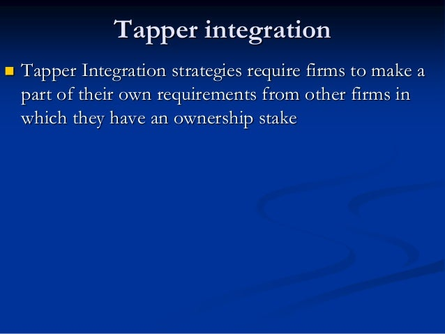 Horizontal Integration It is process of acquiring or merging with industry competitors in an effort to achieve the competi...