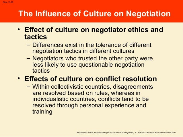 the influence of culture on negotiation The influence of culture on the negotiation styles of british students jalal ali belshek abstract in this study, the argument is that british students whose major subject is politics are very.