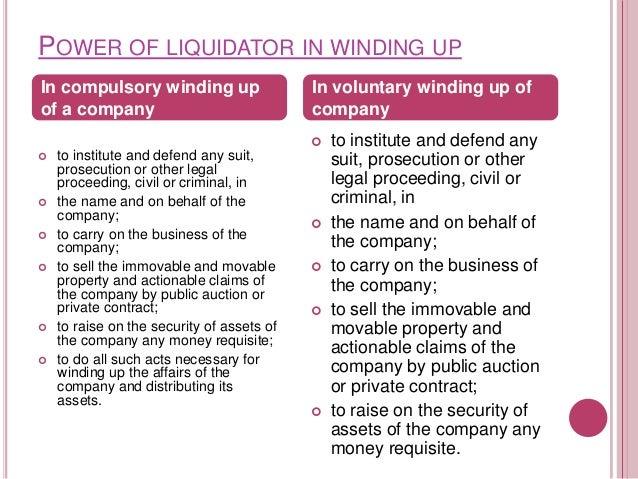 STATUS OF LIQUIDATION   RAMESHBHAI TANK v. OFFICIAL LIQUIDATOR OF VIJAY MILLS LTD. [(2008)    The applicants, who were t...
