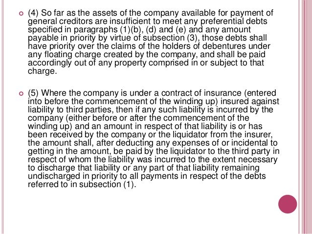   (6) If the liability of the insurer to the company is less than the liability of the company to the third party nothing...