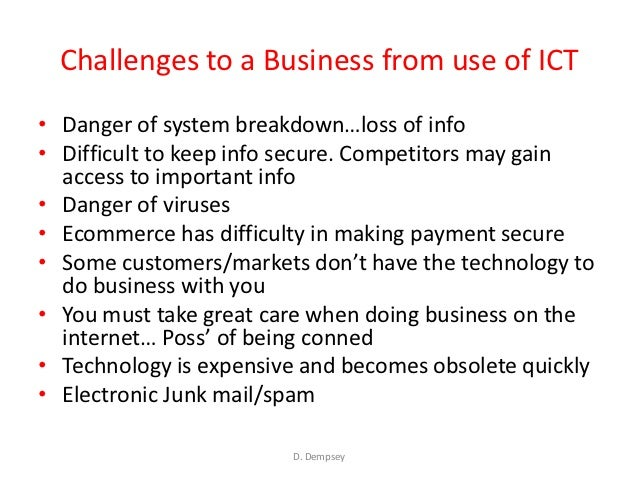 importance of ict in business pdf