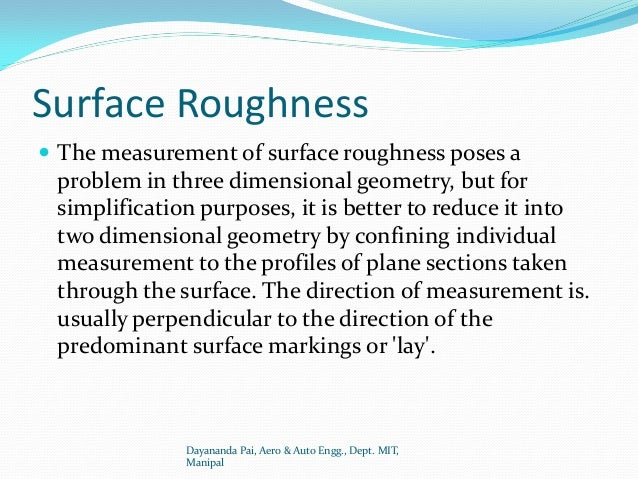 Chapter 7 measurement of surface finish