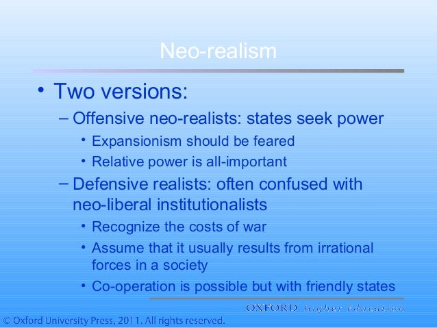 realism and neo realism Italian neo-realism  beginnings finding any sort of critical consensus as to when precisely italian neo-realism began, when it ended or, most importantly, what exactly it was (or, perhaps, as i will discuss, what it is) is not an easy task.