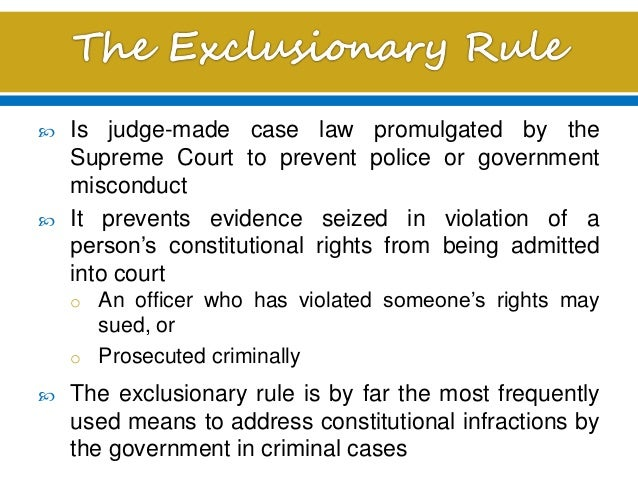 Exceptions of the exclusionary rule the inevitability doctrine