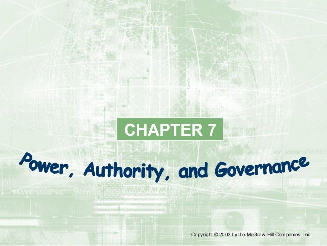 Chapter 7 Power Authority And Governance