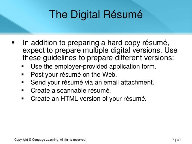 Develop Multiple Versions of Your Resume oyulaw