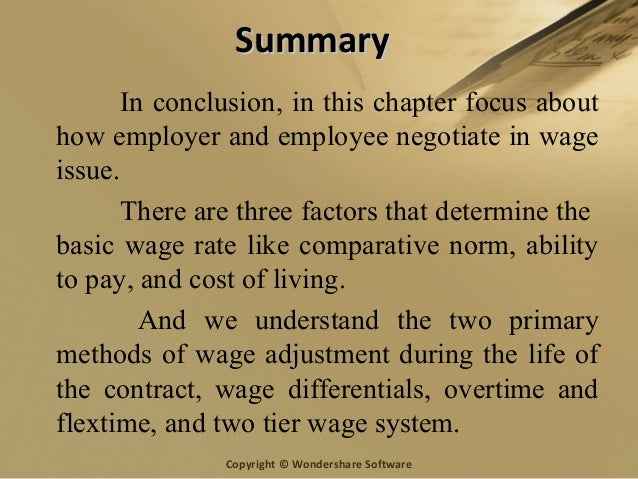 Chapter 7 Wage Issue Under The Collective Bargaining