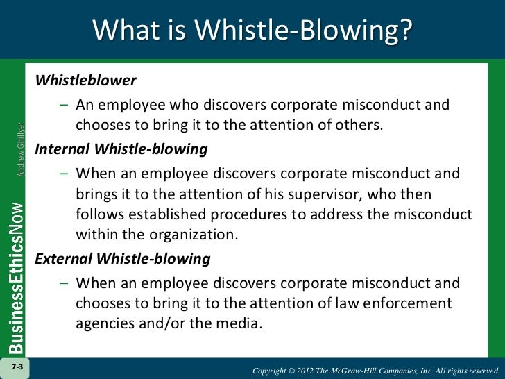 a definition of whistle blowing Definition of whistle blowing in the financial dictionary - by free online english dictionary and encyclopedia what is whistle blowing meaning of whistle blowing as a finance term what does whistle blowing mean in finance.