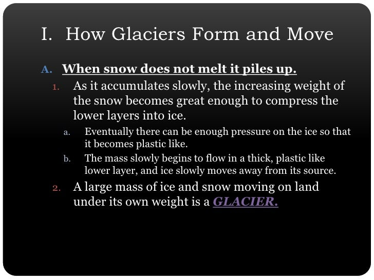 Chapter 7 Section 3 Glaciers