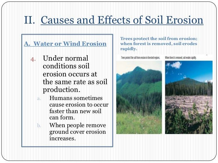 Chapter 7 section 3 soil erosion br 4 ii causes and effects of soil erosionbr sciox Images