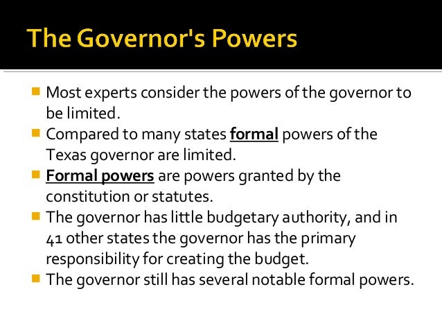 texas governor powers