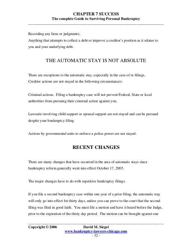 Bankruptcy Chapter 7 Success by David M Siegel – Bankruptcy Worksheet