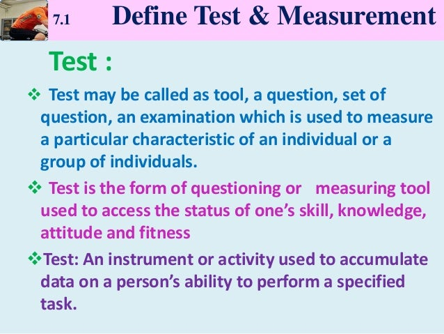 Chapter 7 Test And Measurement In Sports