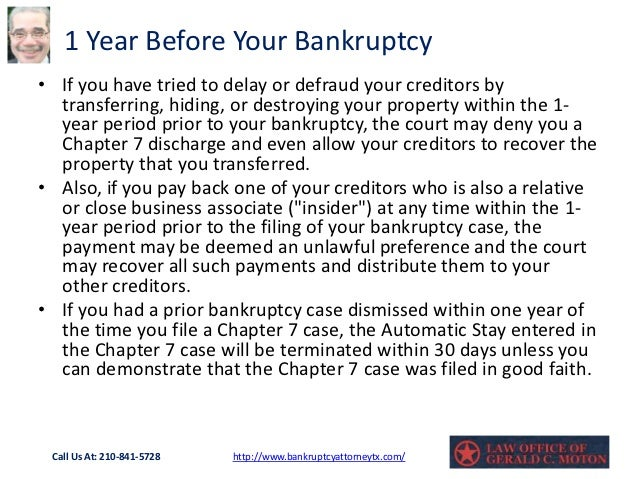 Chapter 7 timeline explained bankruptcy made easy - gerald ...