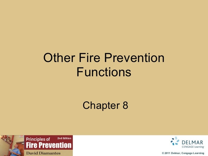 Other Fire Prevention Functions   Chapter 8