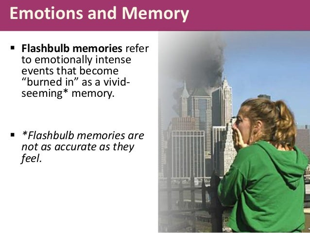 flashbulb memory Get expert answers to your questions in memory, cognitive, autobiographical memory and flash memory and more on researchgate, the professional network for scientists.