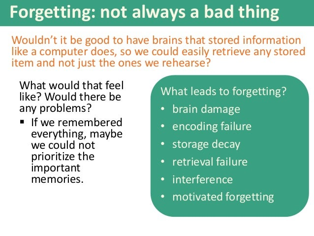 motivated forgetting example