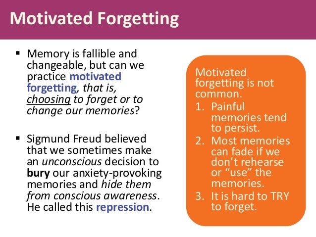 motivated forgetting examples