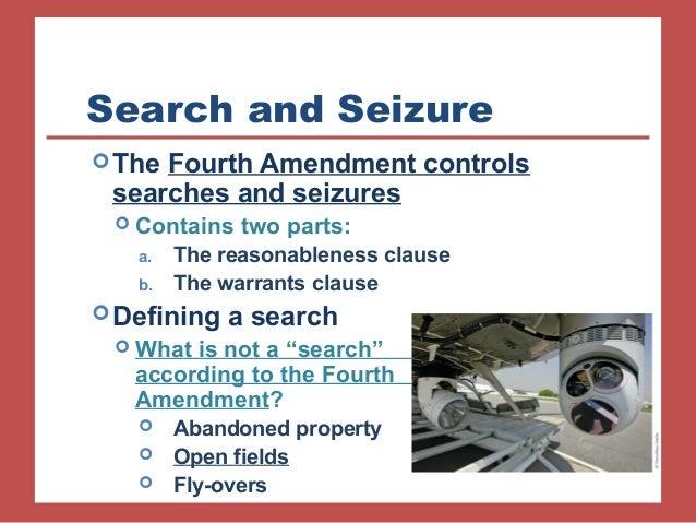 The Fourth Amendment – Search & Seizure - U.S. & Texas ...