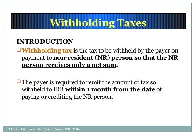 singapore withholding tax