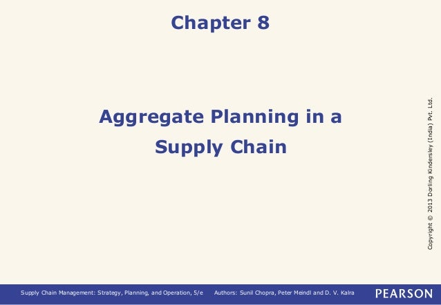 Copyright © 2013 Dorling Kindersley (India) Pvt. Ltd.  Chapter 8  Aggregate Planning in a  Supply Chain  Supply Chain Mana...