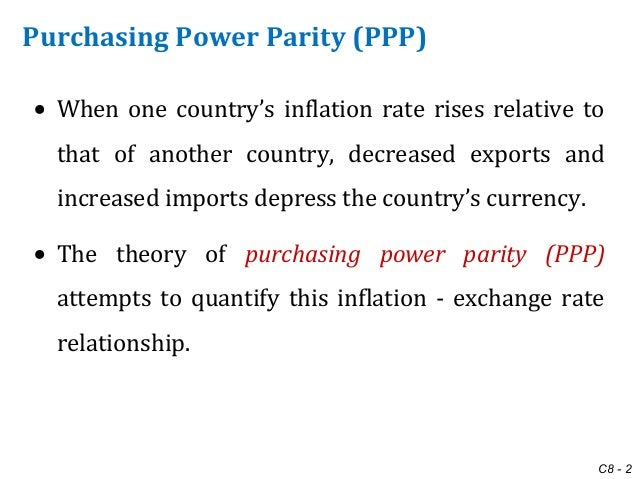 How does inflation affect the exchange rate between two nations?