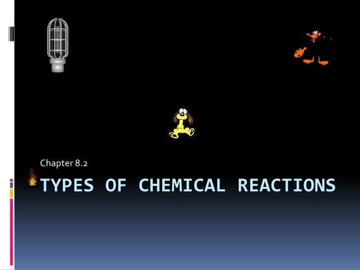 Types of chemical reactions<br />Chapter 8.2<br />