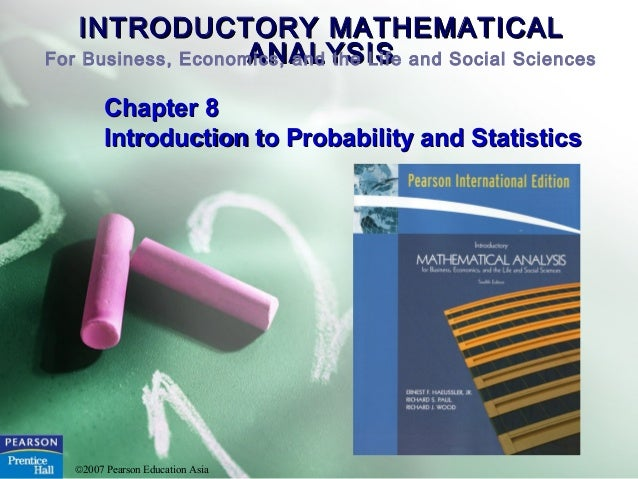 Introductory Mathematics and Statistics for Business.
