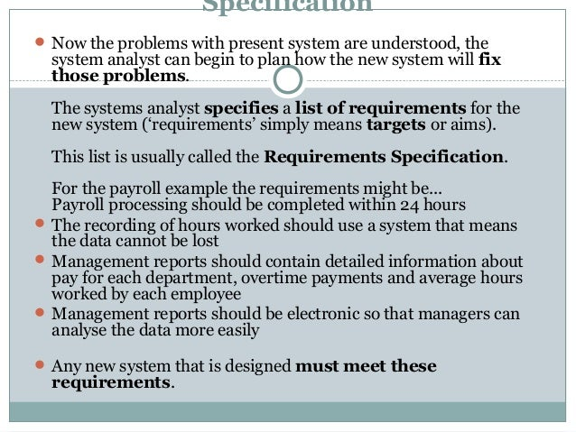 System analysis thesis on troubleshootinh