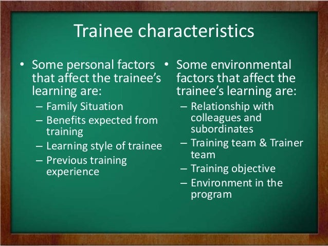 how can the characteristics of the trainee affect self directed learning View notes - wk 4 disc 1 from bus 375 at ashford university describe in detail  how the characteristics of a trainee may affect their selfdirected learning.