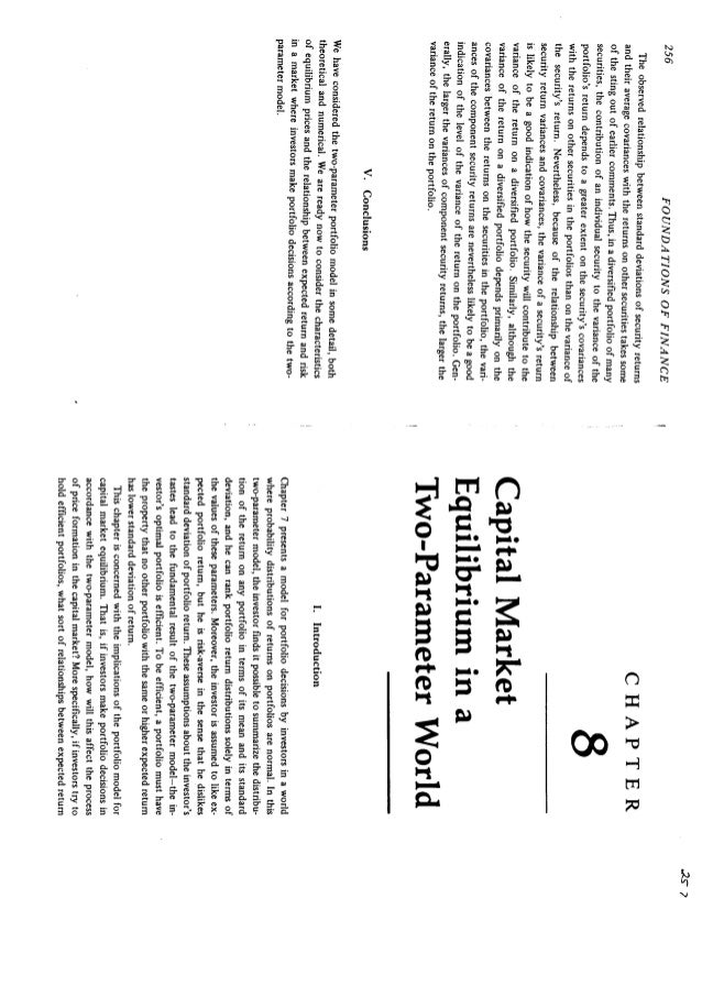 foundations of finance by fama 1976 Chapter 8 capital