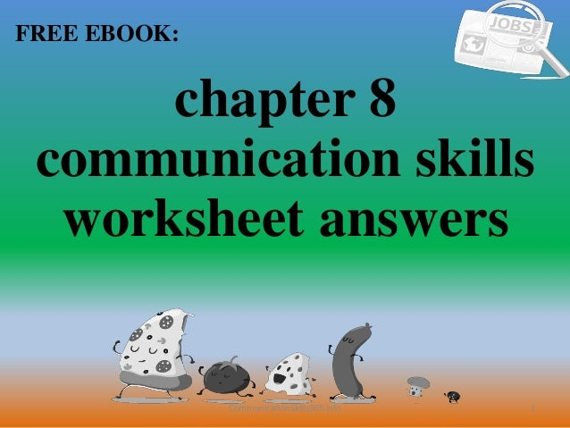 Chapter 8 Communication Skills Worksheet Answers Pdf Free Download