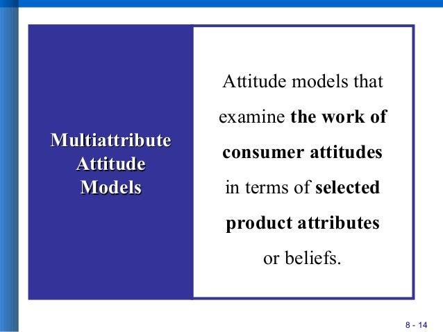 8 - 14 MultiattributeMultiattribute AttitudeAttitude ModelsModels Attitude models that examine the work of consumer attitu...