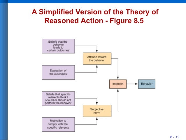 8 - 19 A Simplified Version of the Theory of Reasoned Action - Figure 8.5