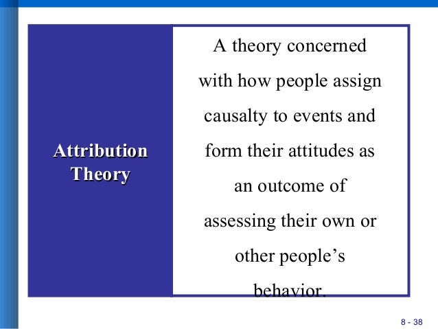 using attribution and attitudinal theories evaluate Early theories of attribution  social cognition social schemas categorization and stereotyping  towards a named object using.