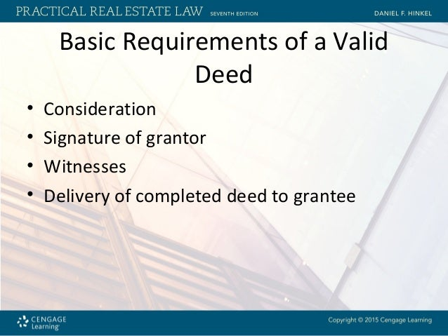 deed witness requirements