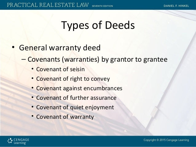 Chapter 8 Requirements For Deeds And Various Types Of Real Property D…