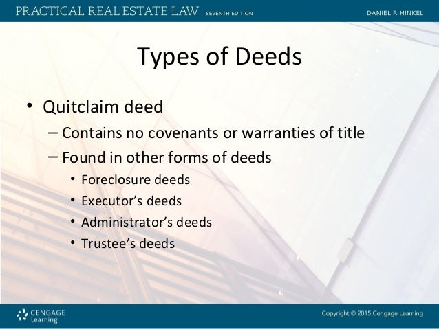 King Versus California King >> Chapter 8 Requirements for Deeds and Various Types of Real ...
