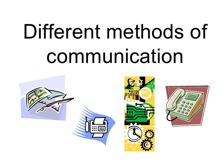 Different ways of communication pdf