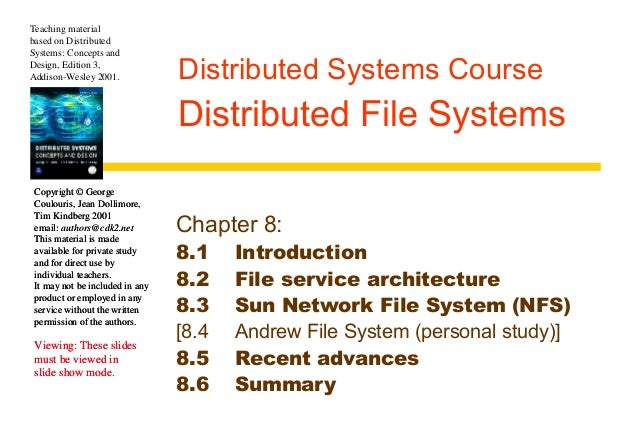 Chapter 8 Distributed File Systems