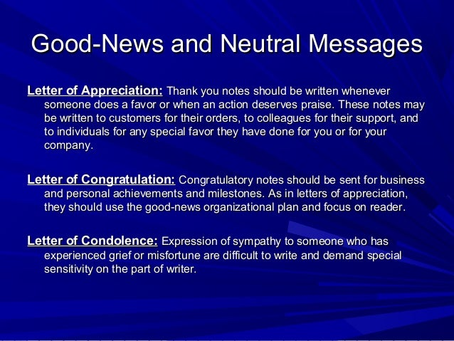 chapter 8 good news and neutral messages