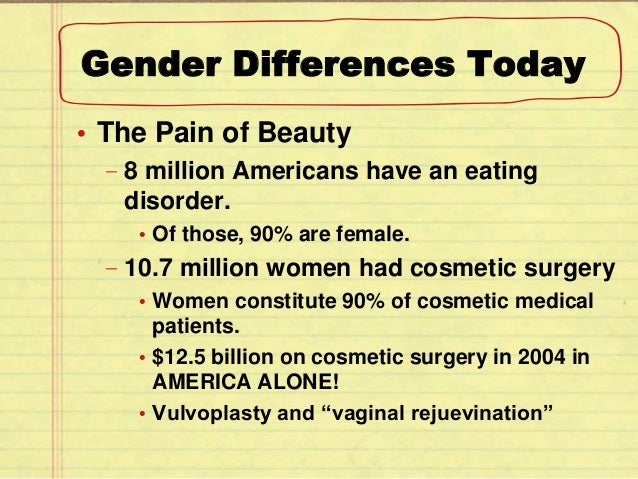 gender differences in society
