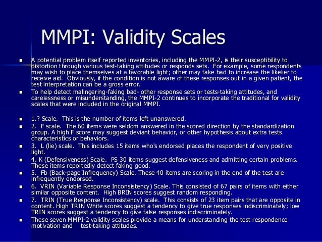Mmpi-2 interpretation