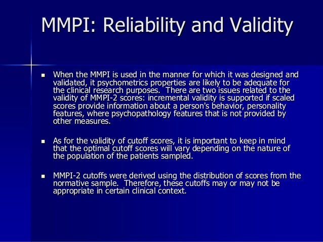 reliability and validity of personality measurements Learn more on the reliability and validity of the myers-briggs type indicator (mbti) assessment for identifying psychological type.