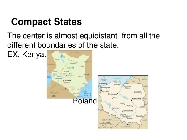Chapter 8 Political Geography Shapes Of States