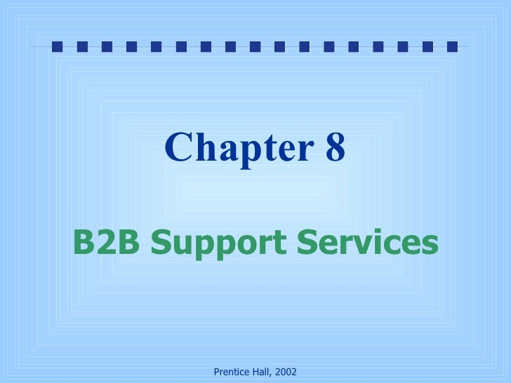 Chapter 8 B2B Support Services