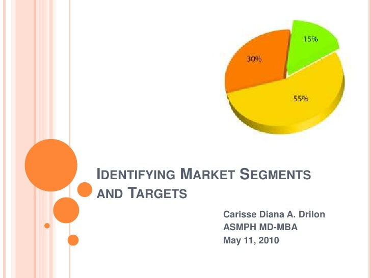 Identifying Market Segments and Targets<br />Carisse Diana A. Drilon<br />ASMPH MD-MBA<br />May 11, 2010<br />